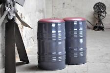Hocker Barhocker aus 60 Liter Fass Ölfass Metallfass Beschichtung nach Wahl