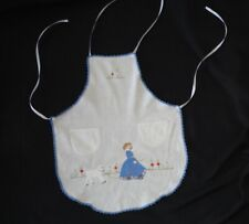 vintage childs full apron embroidered MARY HAD A LITTLE LAMB