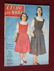 Aout 1956 L'écho de la mode N°35 Hebdomadaire féminin vintage Robes Rentrée