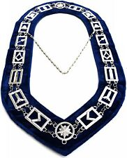MASONIC REGALIA MASTER MASON BLUE LODGE,SILVER METAL CHAIN COLLAR $49.99-