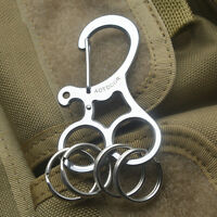 EDC Hard Stainless Key Holder Organizer Clip Folder Keychain Pocket Toolyu