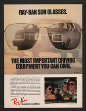1979 RAY-BAN Sunglasses - Bausch & Lomb -Driving Equipment VINTAGE ADVERTISEMENT