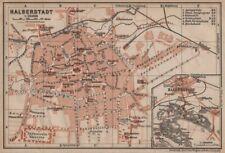 HALBERSTADT antique town city stadtplan. Saxony-Anhalt karte. BAEDEKER 1910 map