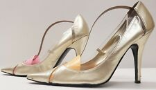 BERTIE ladies womens metallic gold party shoes Size 7 EU 40