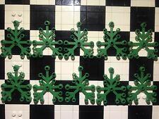 Lego Green Leaves X10 / Large / Plants / Botanical / Landscape / Spare Parts