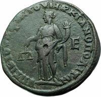 SEVERUS ALEXANDER & JULIA MAMAEA Marcianopolis Roman Coin Dikaiosyne i78972