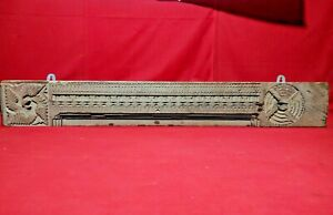 Antique Wooden Wall Panel Hand Carved Ancient Architectural Home Decor Beam Rare