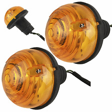 2 x Wipac 73mm Landrover Defender 110 Indicator Lamps Lights + Wiring Tails