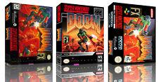 Doom Snes Ersatz Spiel Hülle Box + Abdeckung Kunstwerk Kunst (Kein Spiel)