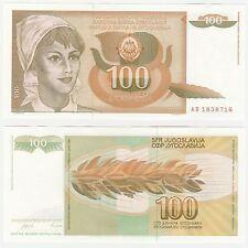 Yugoslavia 100 Dinara 1990 P-105 NEUF UNC Uncirculated Banknote