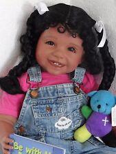 "Reborn 22"" African American/Ethnic/Hispanic Toddler girl doll ""Joy""- Faith Club"