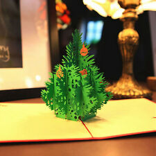 3D Christmas Tree Cards Creative Greeting Cards Papercraft Christmas Tree Cards