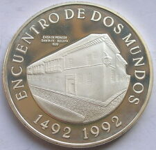 Colombia 1991 Bogota Mint 10000 Pesos Silver Coin,Proof