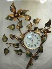Grande orologio da parete GIGLIO in FERRO BATTUTO ORO