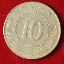 Münze Coin Jugoslawien Jugoslavija 10 Dinar Dinara 1977 (G2)