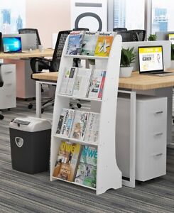 Bookshelf Bookcase Book Organizer 4-Tier Multipurpose Shelf Display Racks