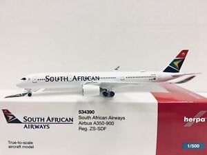 Herpa Wings South African Airways Airbus A350-900 1:500 ZS-SDF 534390