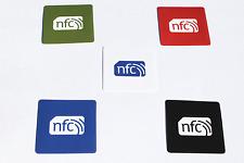 Colore Etichette Adesivi NFC PVC 38mm quadrato: NTAG 213: Windows ANDROID Samsung HTC