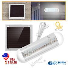 Solar Powered LED Shed Light Pull Lamp Corridor Wall Indoor Garden Yard Garage