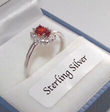 Cubic Zirconia Sterling Silver Ruby Fine Rings