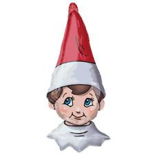 "Christmas Naughty Elf Head 38"" Supershape Foil Balloon Party Big Xmas Decoration"