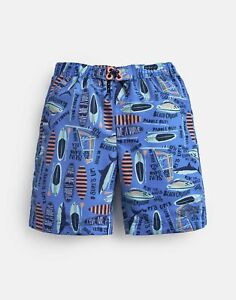 Joules Boys Surfer Board Shorts  - Blue Surf Up - 5Yr