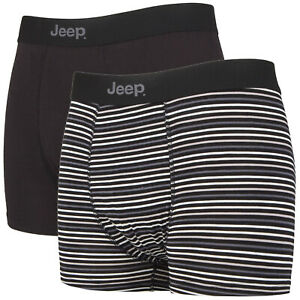 2 Pack Mens Soft Natural Bamboo Fibres Fitted Underwear Trunks by Jeep