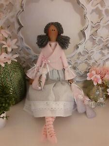Herbst-Puppe+Pilzel Tilda Dekoration Puppe Shabby Chic Landhaus Vintage