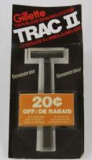Vintage Gillette TRAC 2 Demonstrator Twin Blade Cartridge Razor 1976  (Black)
