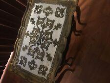 3 Vintage TABLE SET Hollywood Regency italian stacking nesting florentine gold