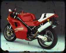 Ducati 888 Sp5 93 A4 Metal Sign Motorbike Vintage Aged