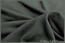 B67 SUPER FINE PLAIN KNIT INTENSE BLACK LUXURIOUS COTTON BLEND MADE IN ITALY