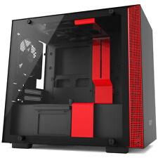 NZXT H200 Black/Red Mini-ITX Mini Tower Tempered Glass Desktop Computer Case