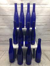 12 Cobalt Deep Blue Stretch Neck 375ml Glass Beer Wine Bottles Party Bottletree