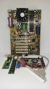 Asus TUSL2-C Soc.370. + CPU 1000+Ram 512mb+Nvidia FX5500 256MB Retro Game PC-Set