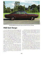 1968 Dodge Charger 426 Hemi Article - Must See !!