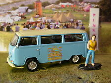 Greenlight VOLKSWAGEN Summer Festival '69 VW TYPE 2 bus & figure✰blue✰loose