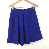 Vintage YVES SAINT ST LAURENT YSL Wrap Skirt Mid Length Jacquard 40 Pleated Wool