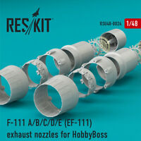 F-111 A/B/C/D/E (EF-111) exhaust nozzles for HobbyBoss  1/48 ResKit RSU48-0024