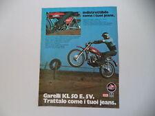 advertising Pubblicità 1975 MOTO GARELLI KL 50 E 5V CROSS