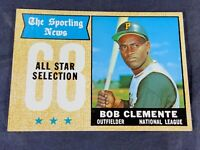 S4-9 BASEBALL CARD - ROBERTO CLEMENTE PITTSBURGH PIRATES - 1968 TOPPS - #374