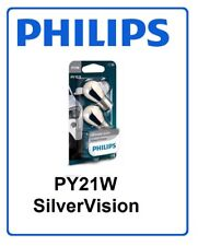 2x PY21W SilverVision PHILIPS 21W 12V 12496SV Halogen Headlight fog lamp Germany