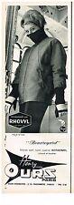 PUBLICITE ADVERTISING  1963   HENRI OURS  vetements de ski