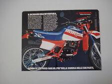 advertising Pubblicità 1984 MOTO HONDA XL 125 R