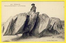cpa 29 - PENMARC'H (Finistère) ROCHERS de SAINT GUÉNOLÉ Le TIRE BOUCHON Animée