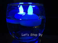 24 LED BLUE Floating Flickering Tea Candle Waterproof Wedding Party Floral Light