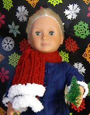 "Warm Winter Scarf for your 18"" Doll / America Girl / Christmas / Holiday"