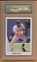 1990 Leaf Sammy Sosa Rookie Card #220 USA 9 Mint Chicago White Sox