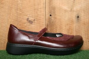 NAOT 'Bluegill' Bordeaux Red Nubuck & Leather Mary Jane Loafers EUR 41 | US 10