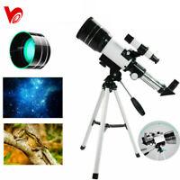 300/70mm Aperture Astronomical Refractor Telescope Night Vision Portable Tripod
